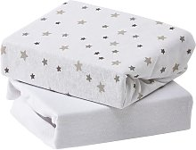 Baby Elegance Crib 2 Pack Jersey Sheets - Grey Star