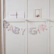 Baby Girl Bunting & Card, Pink, One Size