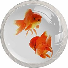 Baby Gold Fish 4PCS Drawer Knobs,Cabinet