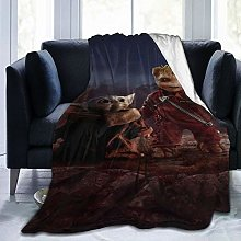 Baby Groot And Baby Yoda Throw Fleece Blanket Sofa