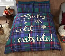 Baby It's Cold Outside Tartan Checked Quilt