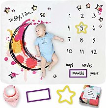 Baby Milestone Blanket for Growth Photos - Soft