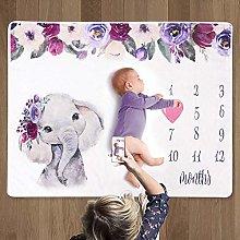 Baby Monthly Milestone Blanket | Baby Girl Gifts &
