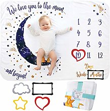 Baby Monthly Milestone Blanket Girl Or Boy, Unisex