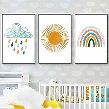 Baby Nursery Wall Art Canvas Poster Prints Cartoon