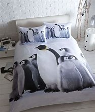 BABY PENGUIN PHOTO PRINTED BEDDING - POLYCOTTON