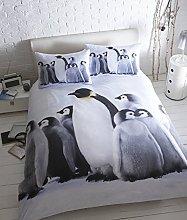 Baby Penguins Flanelette King Size Bed Quilt Duvet