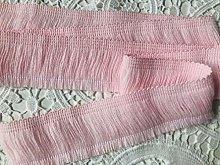BABY PINK Brush Fringe Tassels Textile Cut Pillow
