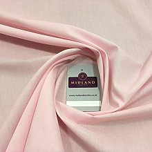 Baby Pink Plain Polyester Cotton Fabric - Dress