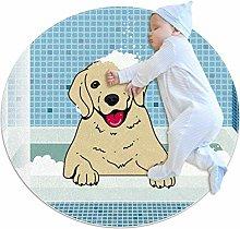 Baby Rug Animal Dog Round Tent Rug Super Soft