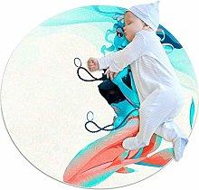 Baby Rug Beach Marmaid Round Tent Rug Super Soft