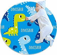 Baby Rug Dinosaur Blue Cute Round Tent Rug Super
