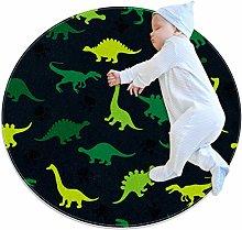 Baby Rug Dinosaurs Round Tent Rug Super Soft