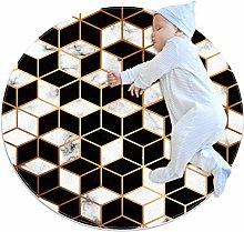 Baby Rug Golden Line Geometric Round Tent Rug