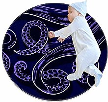 Baby Rug Octopus Tentacles Round Tent Rug Super