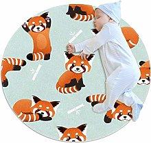 Baby Rug Panda Bamboo Round Tent Rug Super Soft