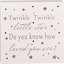 Baby Sentiment Sign Light Up Twinkle Twinkle