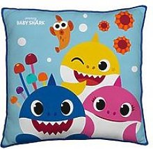 Baby Shark Bay Shark Rainbow Square Cushion