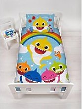 Baby Shark Rainbow Toddler Duvet Cover And