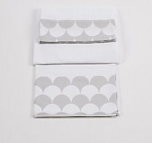 Baby Sheet Set Just Kids Colour: White/Grey, Size: