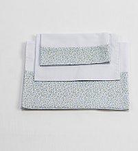 Baby Sheet Set Just Kids Colour: White/Sky Blue,