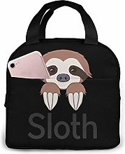 Baby Sloth Tote Lunch Bags, Portable Insulated