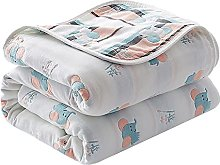 Baby Swaddle Blanket, 6 Layers Cotton Muslin