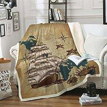 Baby Swaddle Blanket,Nautical map sailing