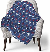 Baby Throw Blanket Super Soft Nautical Anchors