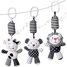 Baby Toy Cartoon Animal Stuffed Hanging Rattle