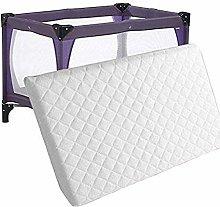 Baby Travel Cot Foam Mattress - Waterproof Cover