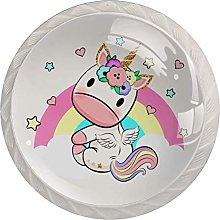 Baby Unicorn Drawer Cabinet Knobs Wardrobe 4pcs