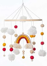 Baby Wooden Rattle Bed Bell Mobile Activity Game