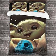Baby Yoda The Mandalorian 3 Piece Bedding Set