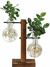 babytowns Bulb Vase with Vintage Wooden Stand