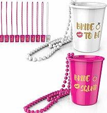 Bachelorette Shot Glasses I Necklace Beads Plastic