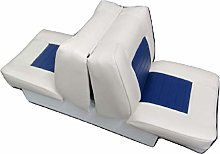 Back to Back Boat Seat in White and Blue