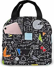 Back to School Math Formula Insulated Lunch Bag