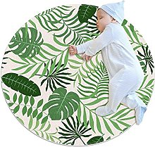 background with palm leave, Kids Nursery Rug Play