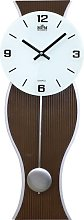 Backus Silent Wall Clock Metro Lane Colour: Dark