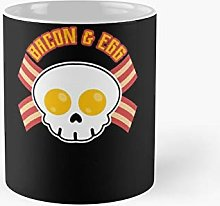 Bacon and Egg Shirt Skull Breakfast - Novelty