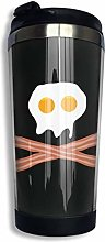 Bacon Egg Coffee Cup Stainless Steel Water Bottle