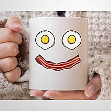Bacon Egg Smile Coffee Mug Funny Bacon and Eggs