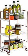 Baffect Rose Gold Spice Rack Organizer Shelf