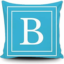 BAGEYOU Baby Blue Pillow Cover with White Letter