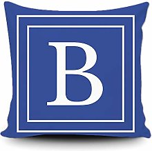 BAGEYOU Blue Pillow Cover with White Letter