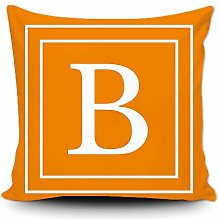 BAGEYOU Orange Pillow Cover with White Letter