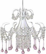 Bagood Crystal Chandelier Pink Crystal Pendant