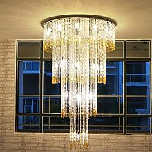 Bagood Duplex Staircase Long Crystal Chandelier
