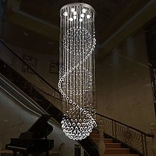 Bagood Staircase Long Crystal Chandelier LED